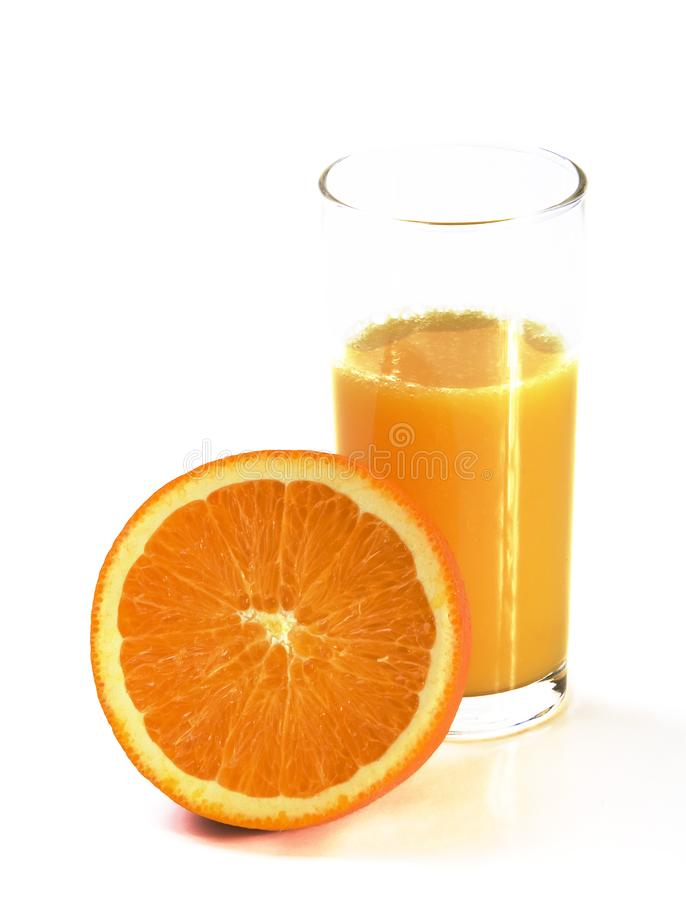 Fresh orange juice and orange stock photo