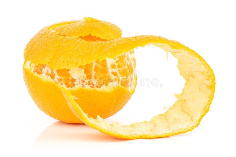 Fresh orange mandarine isolated on white royalty free stock photography