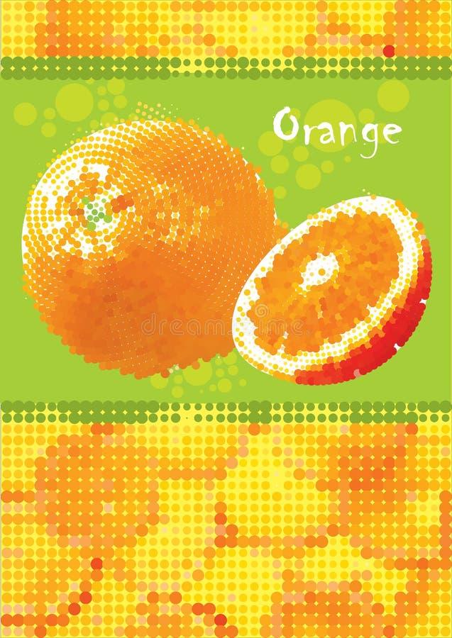 Fresh orange menu. For cocktails and cafe bar vector illustration