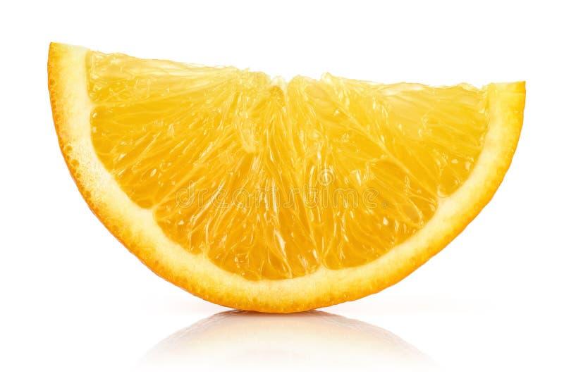 Fresh Orange slice isolated on white stock photos