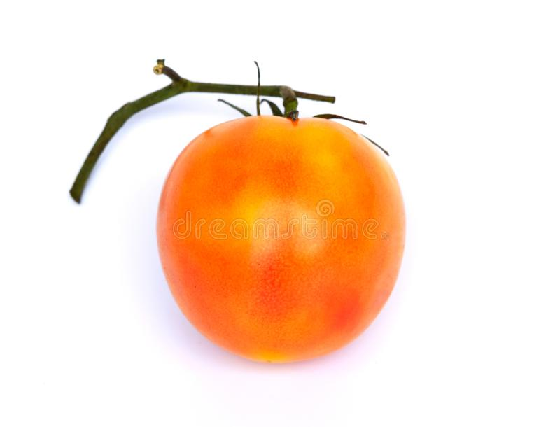 Fresh orange tomatoes, isolated on a white background Concepts, vegetables, kitchen gardens and as a health food. Illustration - l stock photography