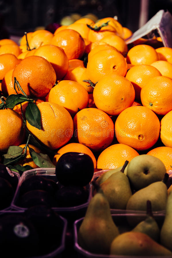 Download Fresh Oranges At Marketplace Stock Photo - Image: 83723479
