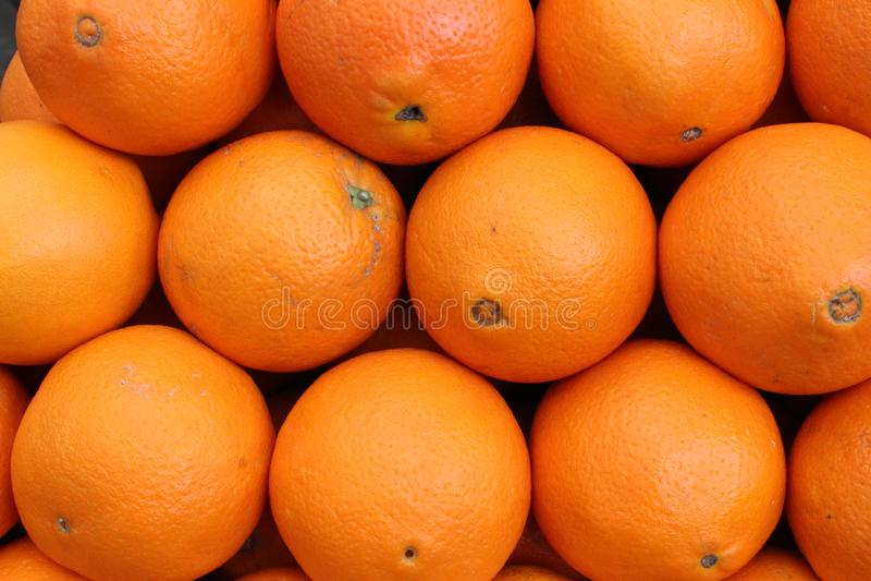 Fresh oranges ready to become juice. stock photos