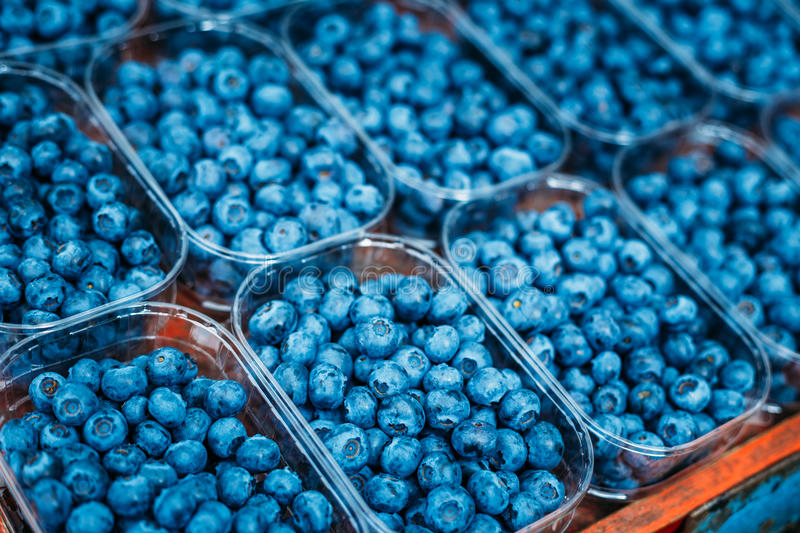 Fresh Organic Berries Blueberries At Produce Local stock photography