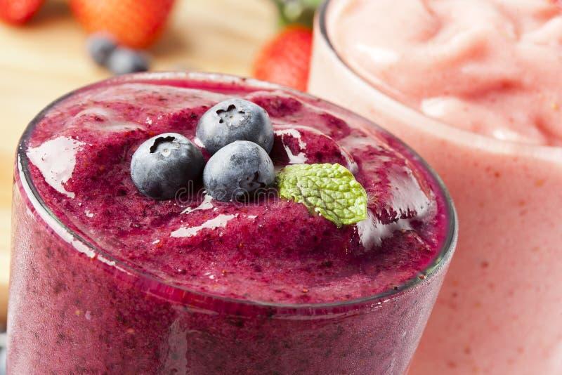 Fresh Organic Blueberry Smoothie stock images