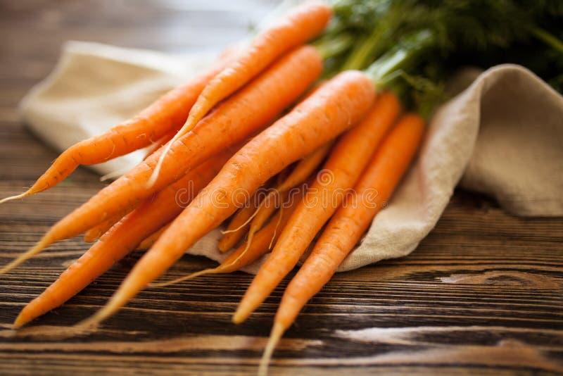 Fresh organic carrot stock image
