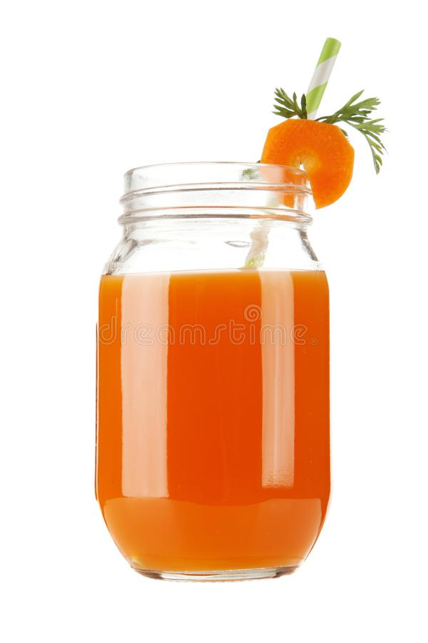 Fresh organic carrot juice stock photo