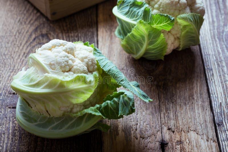 Fresh organic cauliflower, plant based food. Fresh organic homegrown cauliflower, vegan meal, plant based food, close up, selective focus royalty free stock photos