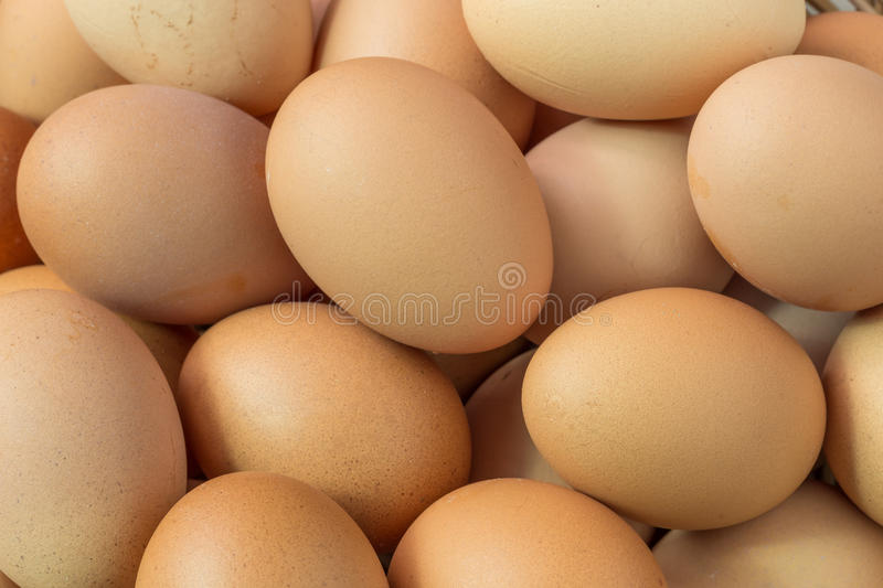 Fresh organic eggs. From chicken farm royalty free stock photography