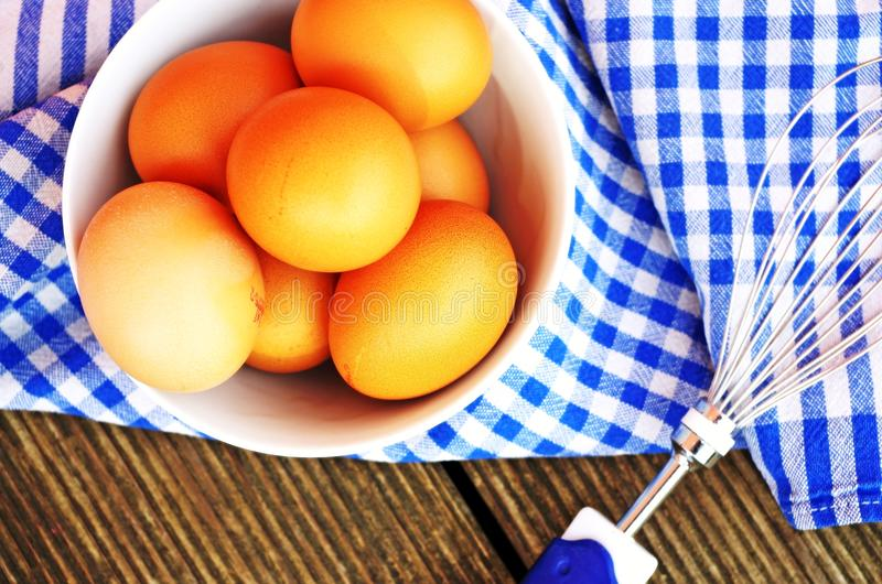 Fresh organic eggs royalty free stock images