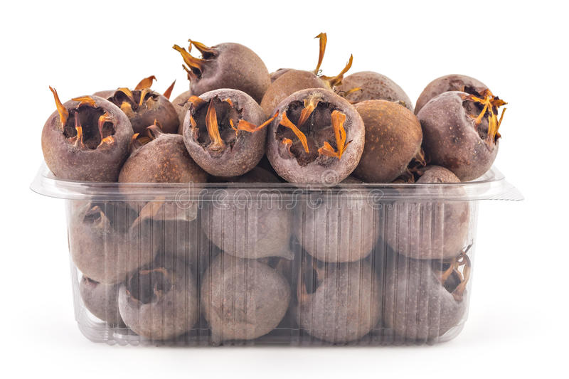 Fresh organic medlars stock photos