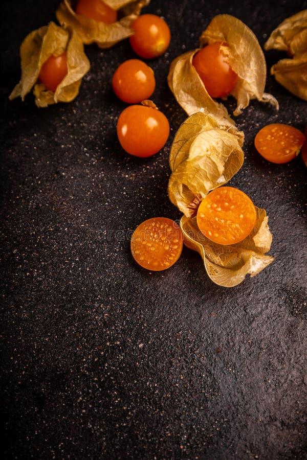 Fresh organic physalis fruit stock photos