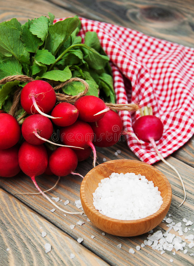Fresh organic radish stock photos