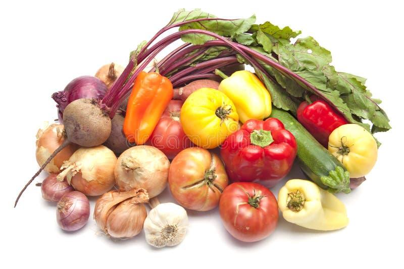 Fresh Organic Summer Vegetables stock images