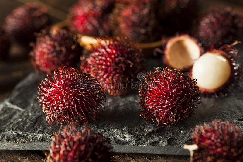 Fresh Organic Tropical Rambutan royalty free stock images