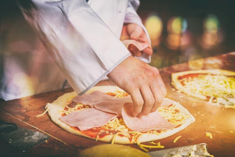 Fresh Italian pizza royalty free stock photos