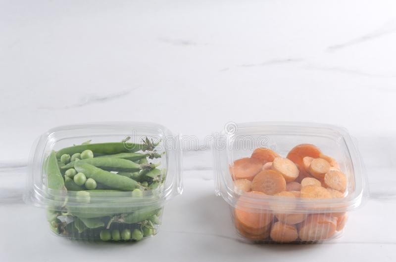 Fresh packaged meal for tasty and healthy lunch.Vegetarian meal in the food containers stock image