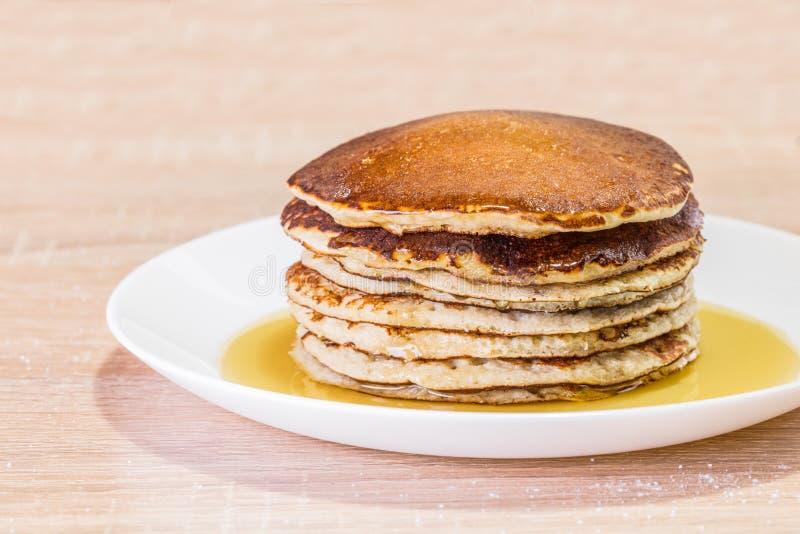 Fresh Pancake with honey stock photography