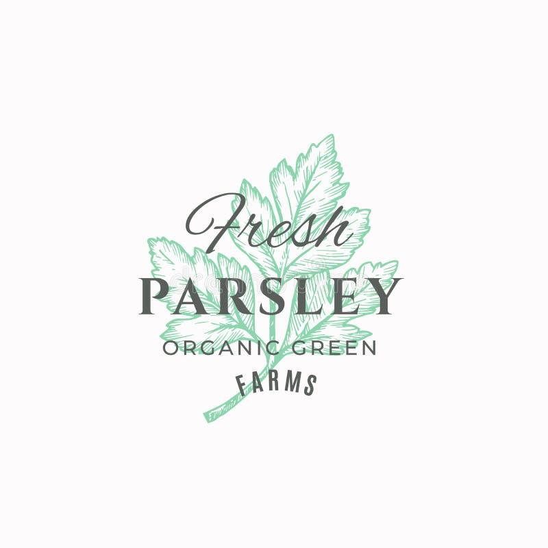 Fresh Parsley Farm Abstract Vector Sign , Symbol Or Logo