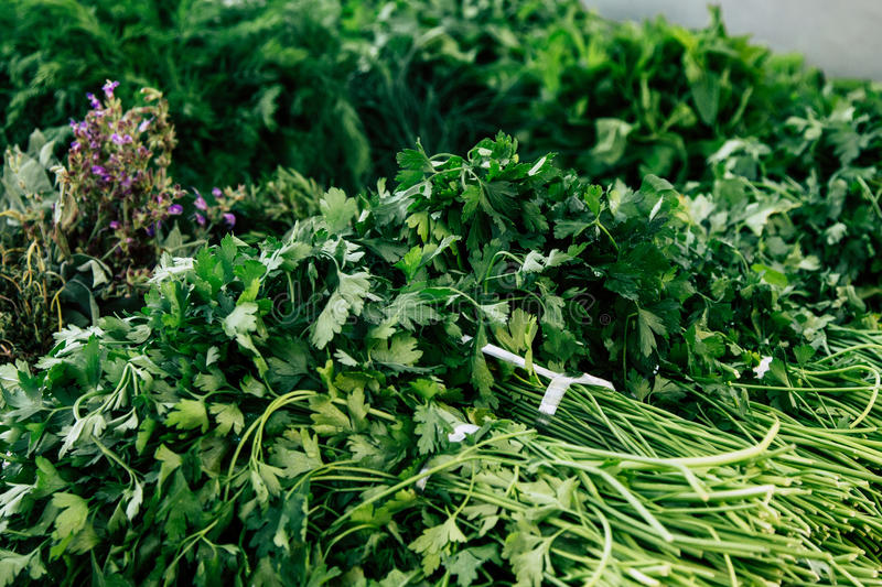 Download Fresh Parsley At Marketplace Stock Image - Image: 83723583