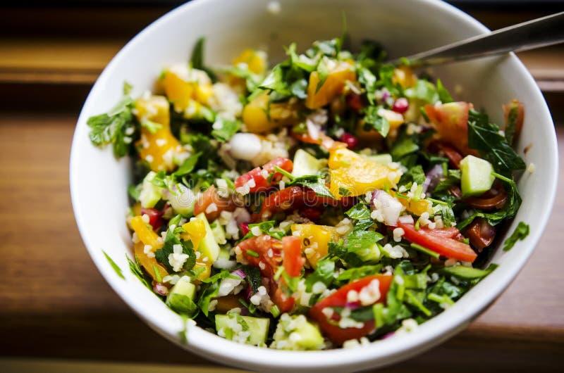 Fresh parsley salad stock photography