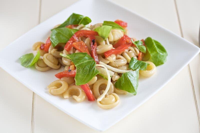 Fresh pasta salad stock photo
