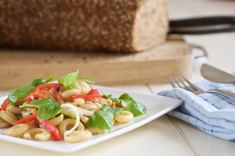 Fresh pasta salad stock images