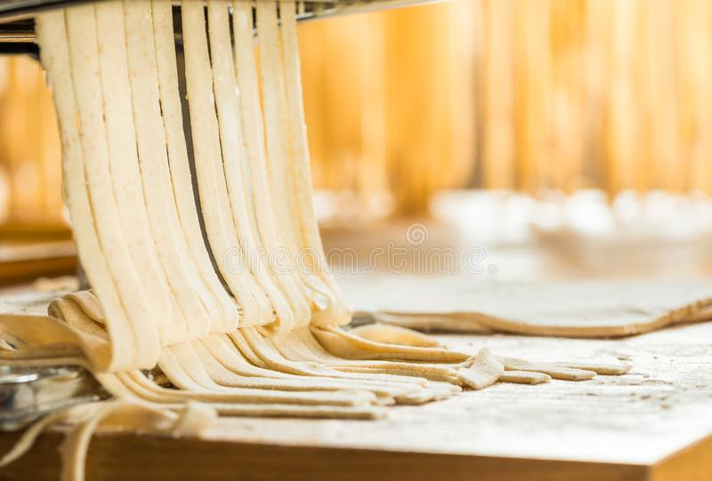 Home pasta making, italian traditional food. royalty free stock photo