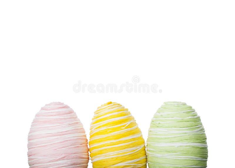 Fresh pastel Easter Eggs stock image