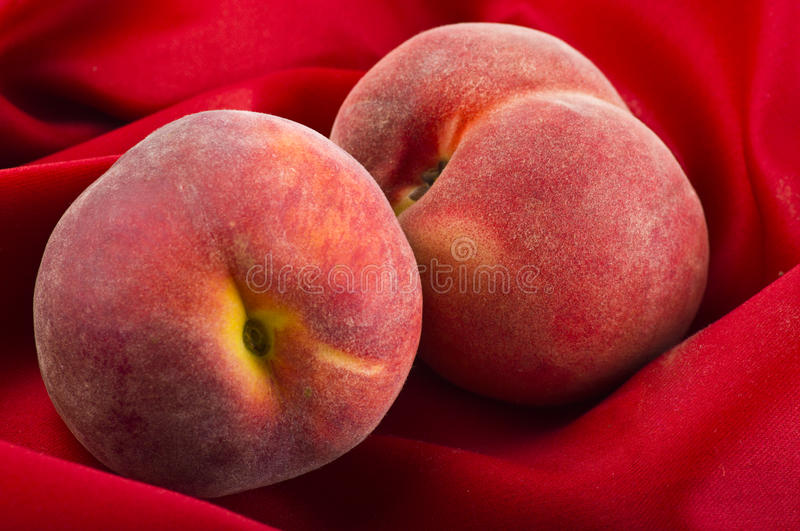 Fresh peaches fruits royalty free stock photos