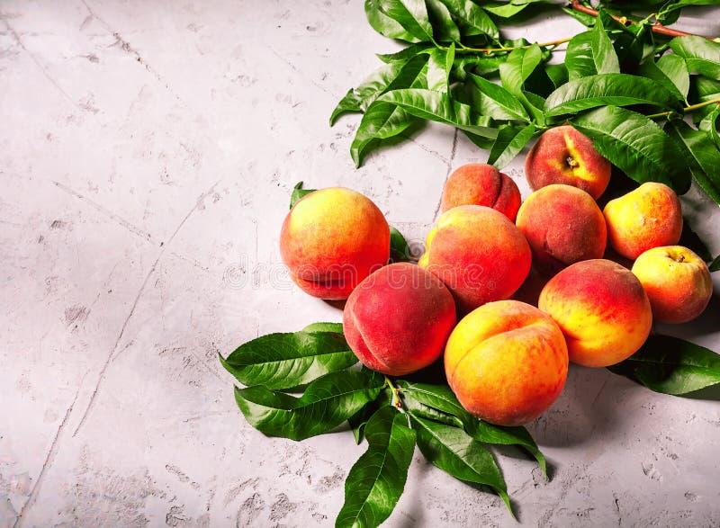 Fresh peaches, Peach fruit background, sweet peaches, group of p. Eaches,sliced peaches, peach slices stock photo