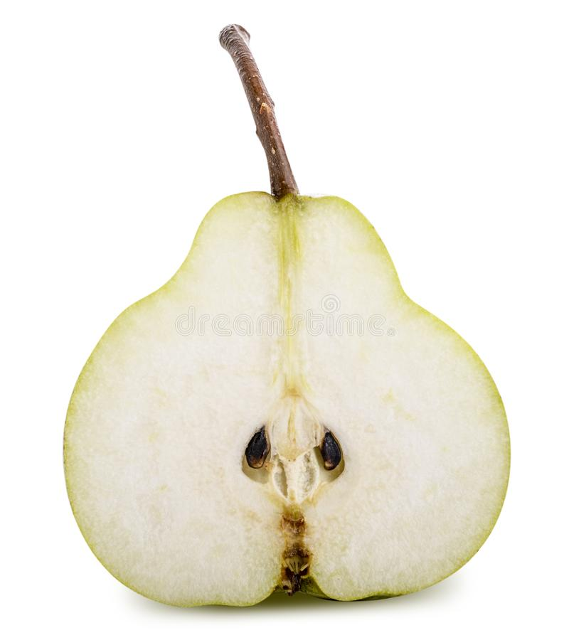Fresh pear isolated on white background. Clipping path royalty free stock photos