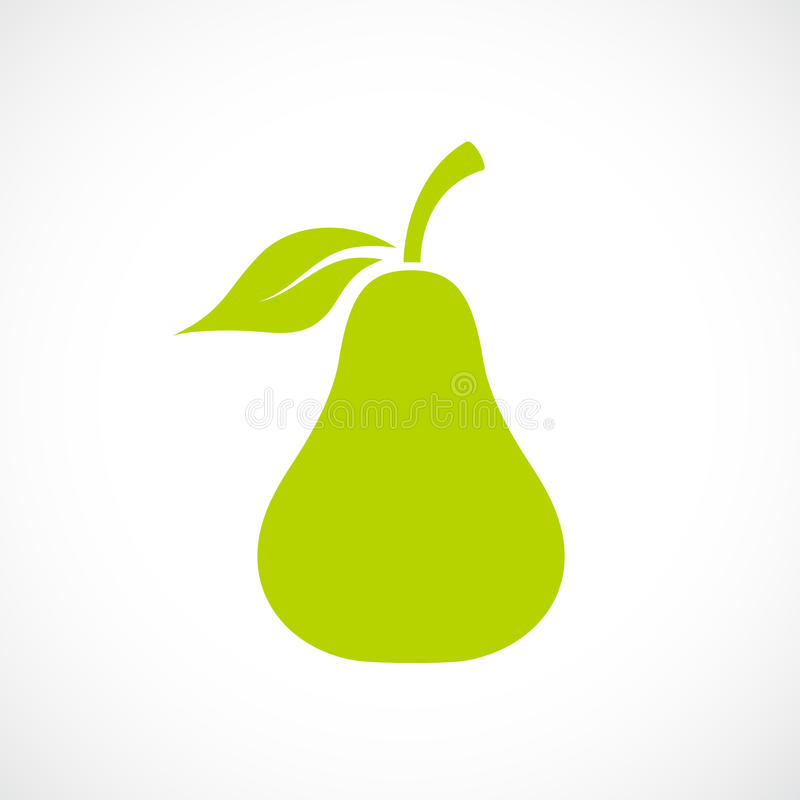 Fresh pear vector icon. Illustration royalty free illustration