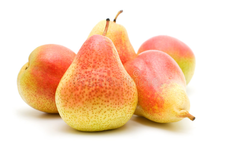 Fresh pears stock photography