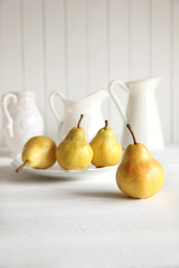 Fresh Pears On Old Table Royalty Free Stock Photo
