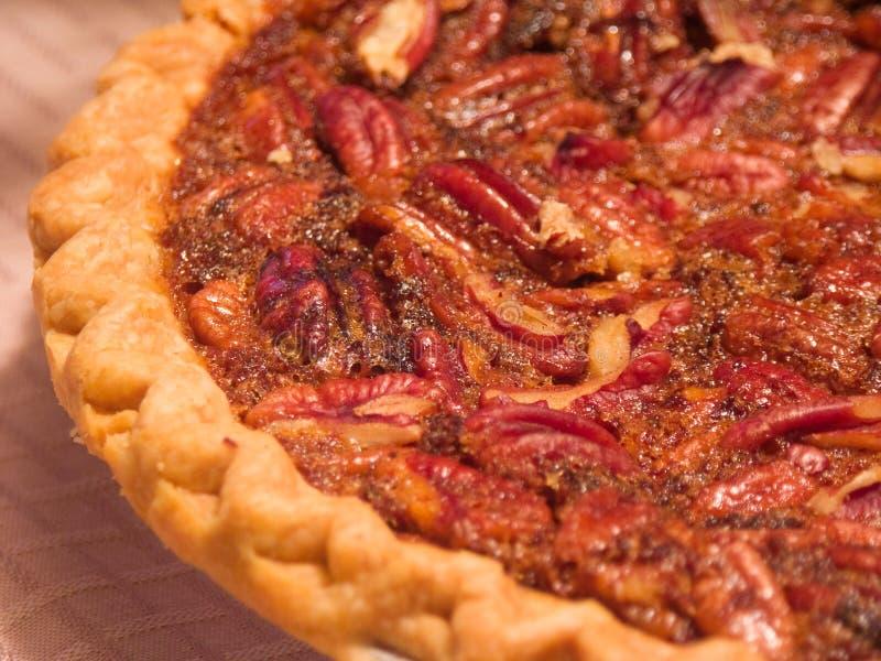 Fresh Pecan Pie stock image