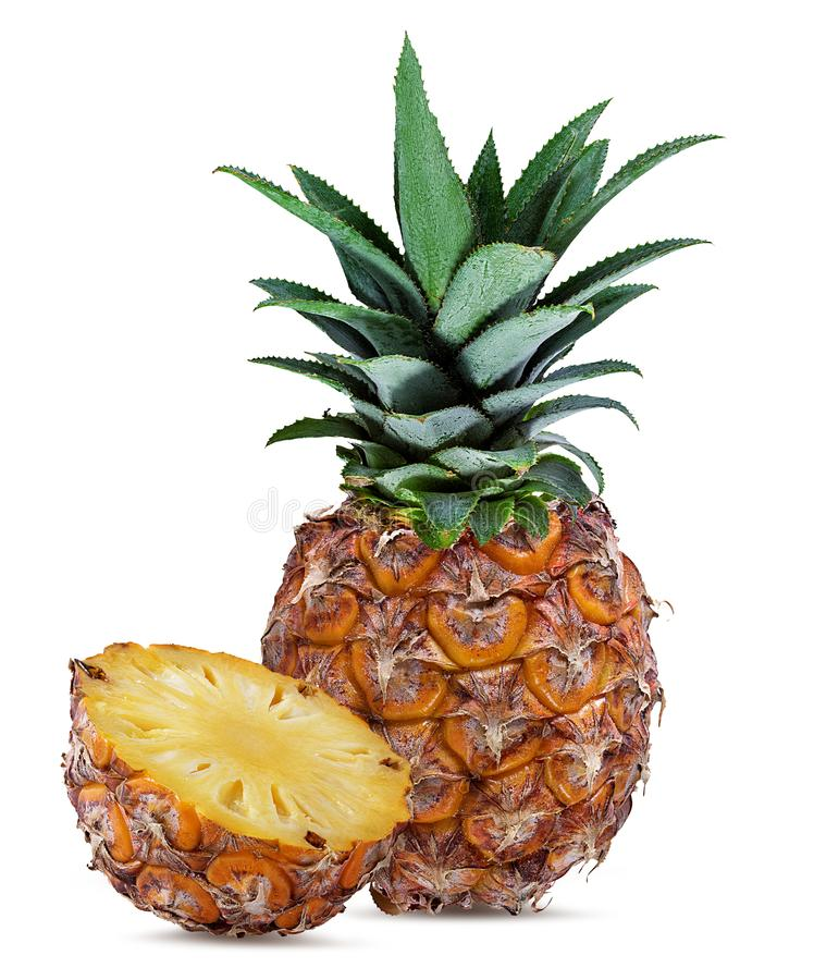 Free Fresh Pineapple Isolated On White Stock Images - 109484234