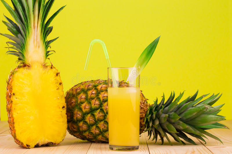 Fresh Pineapple Juice stock photo