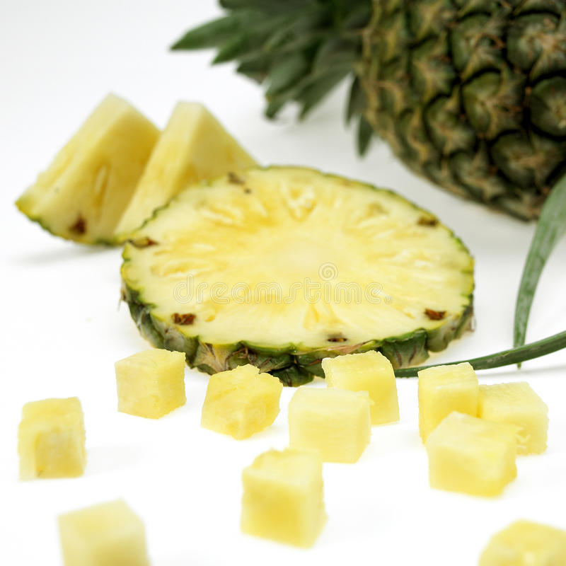 Fresh pineapple with slices