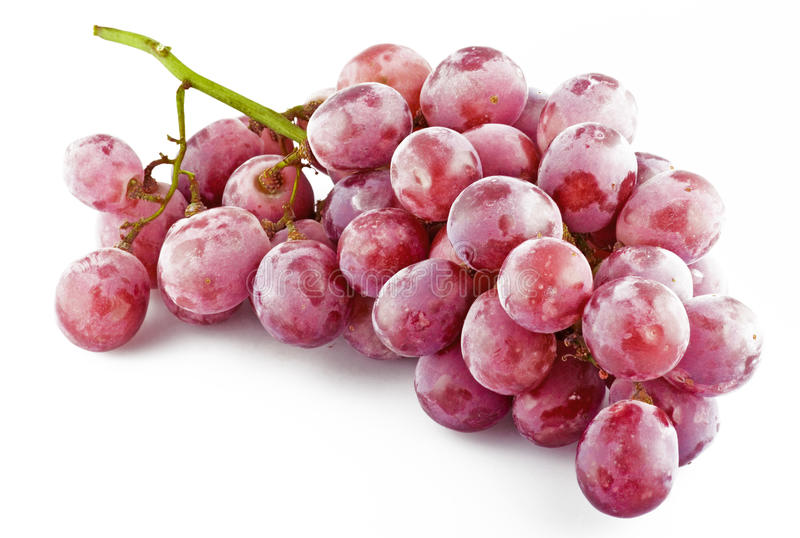 Fresh pink grapes stock photo