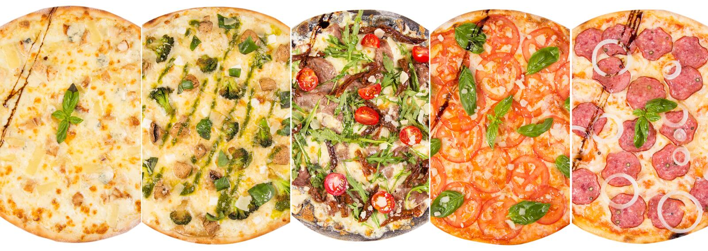 Pizza isolated on white stock photos