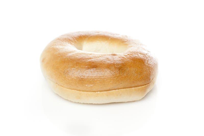 A fresh plain bagel royalty free stock photo