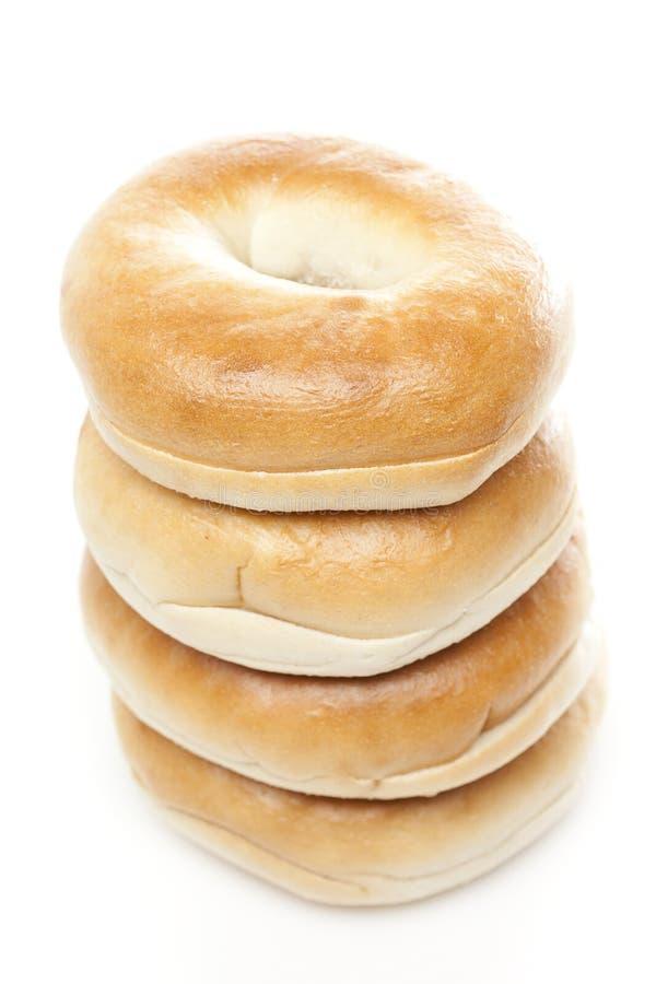 A fresh plain bagel stock photography