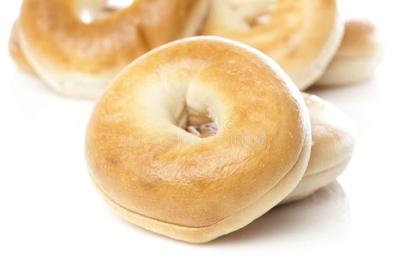 A fresh plain bagel royalty free stock image