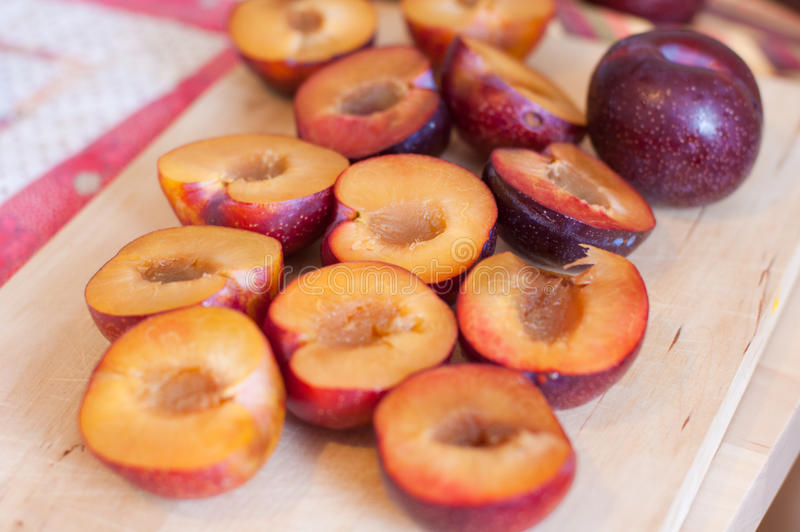 Download Fresh plums stock image. Image of half, heap, cook, cooking - 24267593