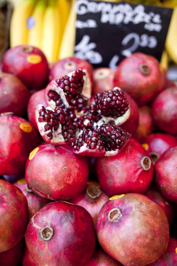 Fresh pomegranate stock image. Image of tasty, natural