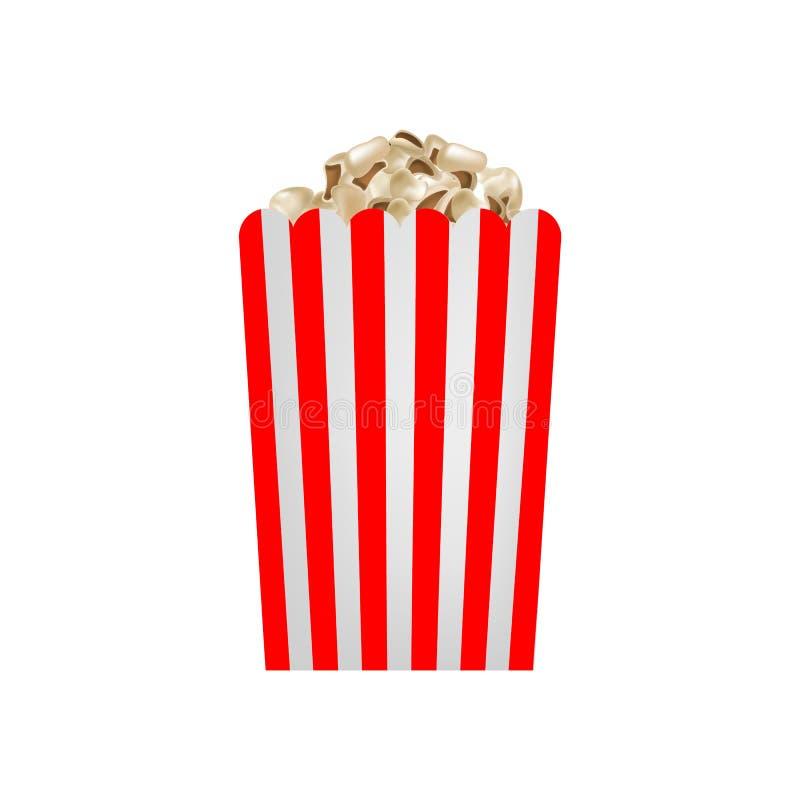 Fresh popcorn mockup, realistic style stock illustration