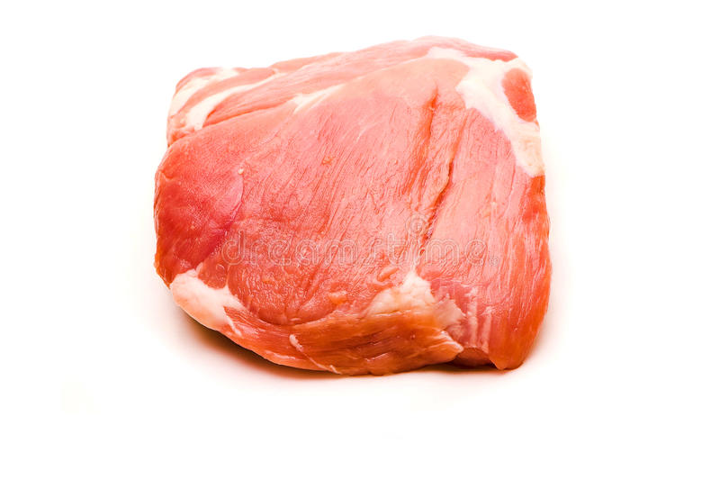 Fresh pork meat blade bone stock images