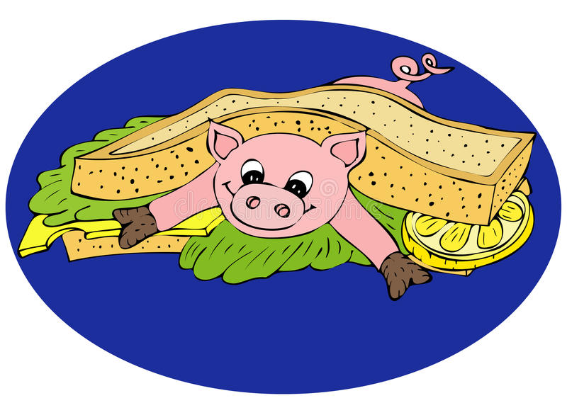 Fresh pork Sandwich stock images