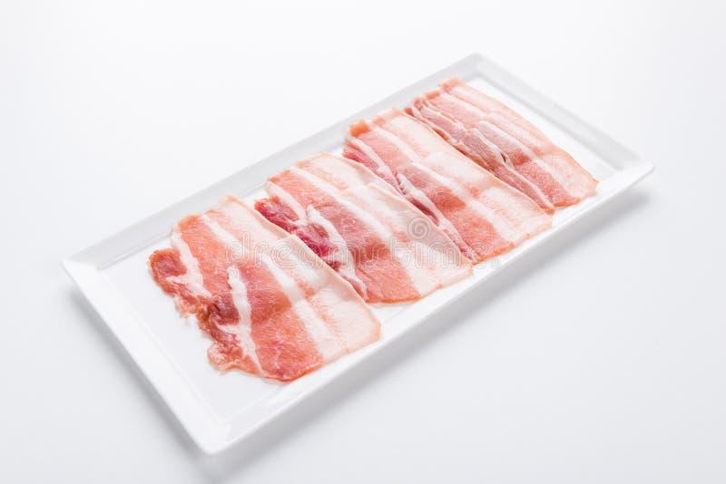 Fresh pork sliced for japanese hot pot royalty free stock image